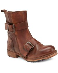 Vintage Foundry Co. Bobbi Motorcycle Boot - Brown