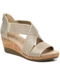 Anne Klein Sport Poetic Wedge Sandal - Metallic