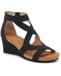Adrienne Vittadini Trilden Wedge Sandal - Black