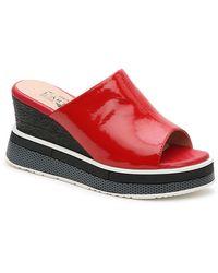 Spring Step Nirulla Wedge Sandal - Red