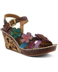 Spring Step - Vinjin Wedge Sandal - Lyst