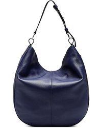 Vince Camuto Aisha Leather Hobo Bag - Blue