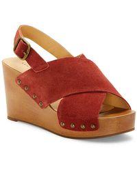 Lucky Brand Zelka Wedge Sandal - Red