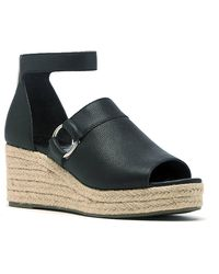 Sole Society Caillen Espadrille Wedge Sandal - Black