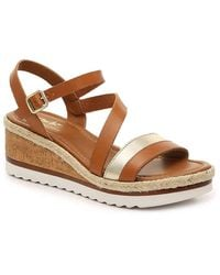 Coach and Four Banno Wedge Sandal - Brown