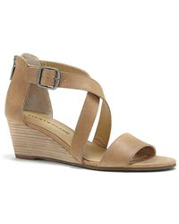 Lucky Brand Jenley Wedge Sandal - Brown