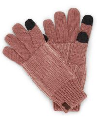 Keds Colorblock Touch Screen Gloves - Pink