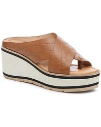 Donald J Pliner Arya Wedge Sandal - Brown