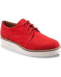 Softwalk Willis Wedge Oxford - Red