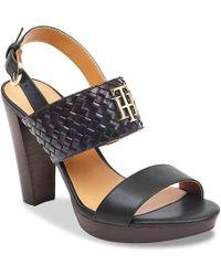 Tommy Hilfiger Evely Platform Sandal - Black