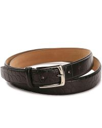 Cole Haan | Croco Leather Belt | Lyst