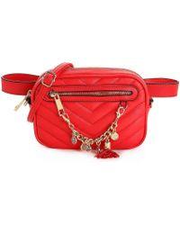 5185dc3706a Lyst - ALDO Landaverde Patent Clutch Bag in Red