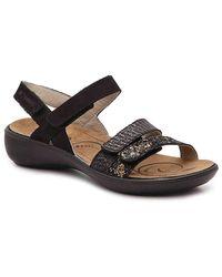 Romika Ibiza 103 Wedge Sandal - Black