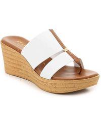 Italian Shoemakers - Nami Wedge Sandal - Lyst