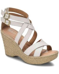 Born Sultry Wedge Sandal - White