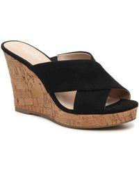 Charles David - Latrice Wedge Heel Leather Sandal - Lyst
