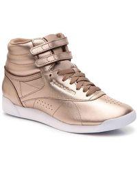 Reebok Freestyle Hi Metallic High-top Sneaker