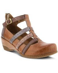 Spring Step Yulianna Mary Jane Shoes - Brown