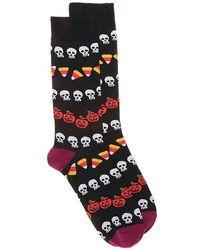 K. Bell - Candy Corn Crew Socks - Lyst