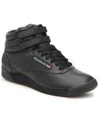 Reebok - Freestyle Leather High Top Sneakers - Lyst