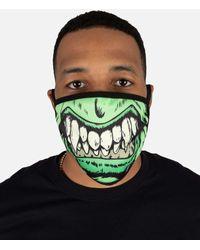 Hudson Jeans Green Grin Face Mask