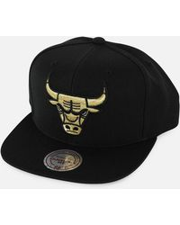 71748e8b0f8 Mitchell   Ness - Nba Chicago Bulls Gold Metallic Snapback Hat - Lyst