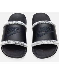 Nike Offcourt Faux Fur Slides - Black