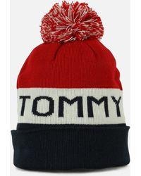 Tommy Hilfiger - Tommy Ski Hat Navy - Lyst