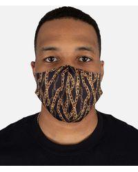 Hudson Jeans Gold Chain Face Mask - Black