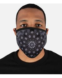 Hudson Jeans Solid Paisley Face Mask - Multicolor