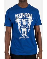 Crooks and Castles Death Row Records Core Tee - Blue