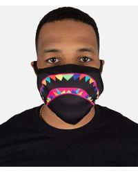 Hudson Jeans Rainbow Shark Mouth Face Mask - Black