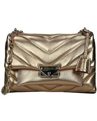 Michael Kors Cece Crossbody Tas Pale Gold - Metallic