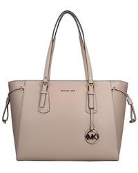 Michael Kors Voyager Shopper M Soft Pink - Roze