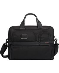 Tumi Alpha 3 Organizer Laptop Brief Laptoptas 15 Inch Black - Zwart