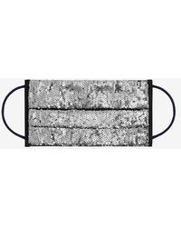 Dundas Reusable Face Mask - Gunmetal Sequins - Metallic