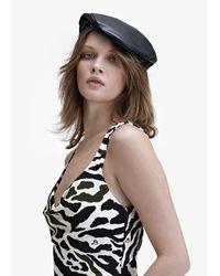 Dundas Black Nappa Leather Hat