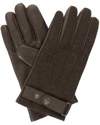 Dune Onasis Mixed Fabric And Leather Glove - Brown