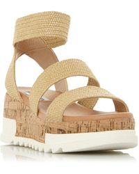 Steve Madden Bandi Platform Sandals - Natural