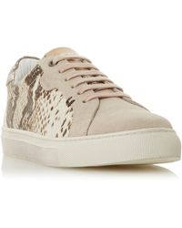 Bertie Embber Leather Lace Up Trainers - Multicolour