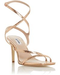 Dune Mighteys Square Toe Strappy Sandals - Metallic