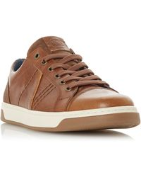 Dune Timber Panel Trainers - Brown