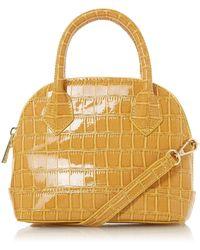 Dune Beckyy' Patent Shoulder Bag - Yellow