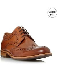 Dune Men's 'wradcliffe' Wide Fit Derby Brogue Shoes - Brown
