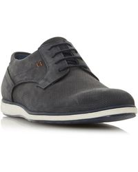 Dune Men's 'bamfield' Perforated Derby Shoes - Blue