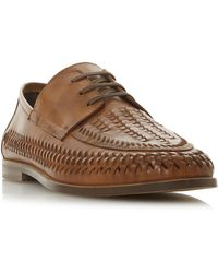 Dune Men's 'brigade' Lace Up Woven Loafers - Brown