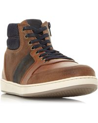 Dune Vouch High Top Trainer - Brown