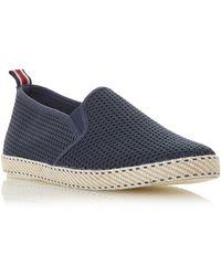 Dune Men's 'flin' Mesh Espadrille Shoes - Blue