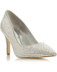 Dune - Blinding T Jewel Embellished Stiletto Heel Court Shoes - Lyst