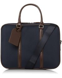 Dune Nathanuel Nylon Briefcase - Blue